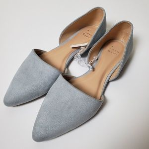 NWT A New Day Faux Suede Gray Flats